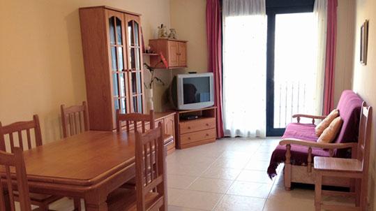 Salón del apartamento rural San Cristóbal en Valderrobres